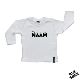 Baby t-shirt Eigen Naam Hartjes