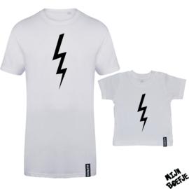 Ouder & kind/baby t-shirt BLIKSEM