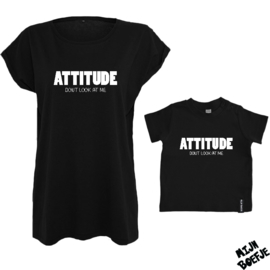 Ouder & kind/baby t-shirt ATTITUDE
