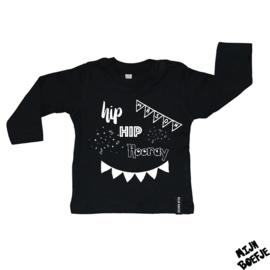 Baby t-shirt Hip Hip Hooray + eigen naam