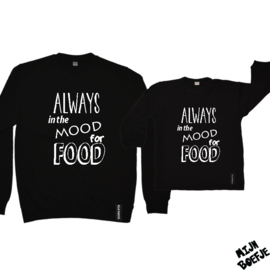 Ouder & kind/baby sweaters ALWAYS in the MOOD for FOOD