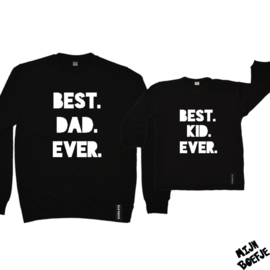 Vader & zoon/baby sweaters BEST DAD EVER / BEST KID EVER