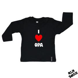 Baby t-shirt I Love Oma / I Love Opa / I Love Opa & Oma