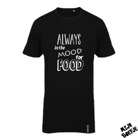 Ouder t-shirt Always in the mood for food
