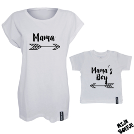 Ouder & kind/baby t-shirt MAMA'S BOY