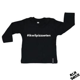 Baby t-shirt #ikwilpizzaeten