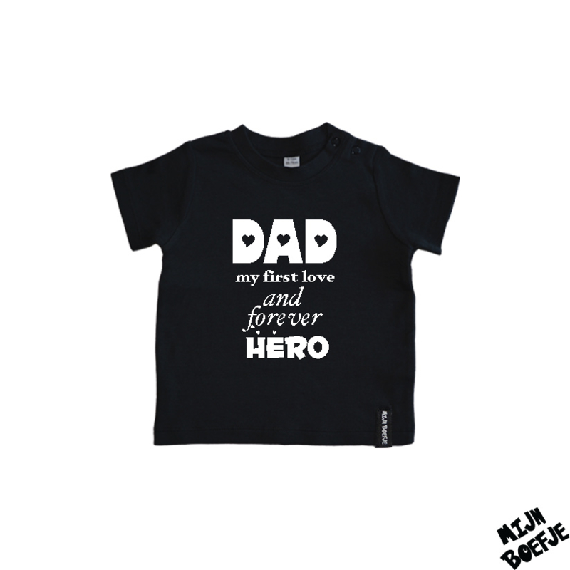 Baby t-shirt Dad my first love