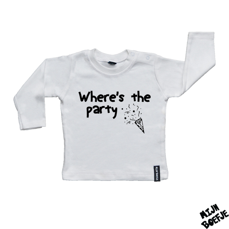 Baby t-shirt Where's the party