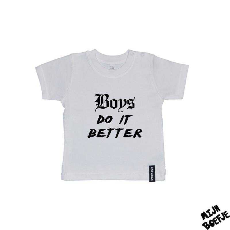 Baby t-shirt Boys do it better