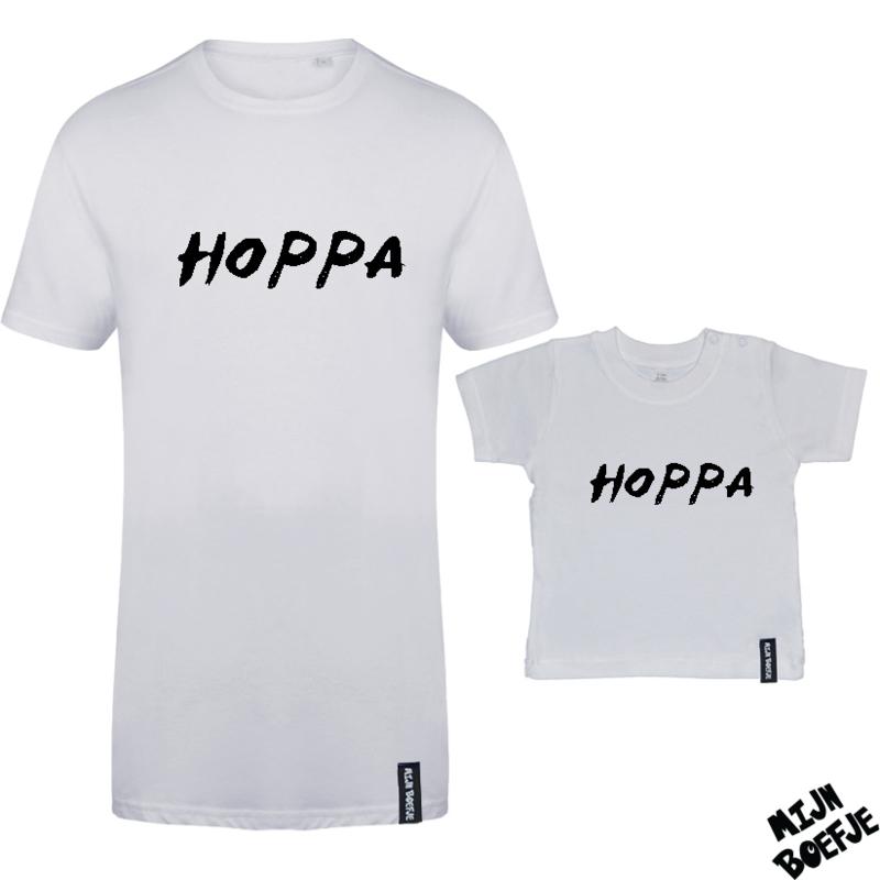 Ouder & kind/baby t-shirt Hoppa