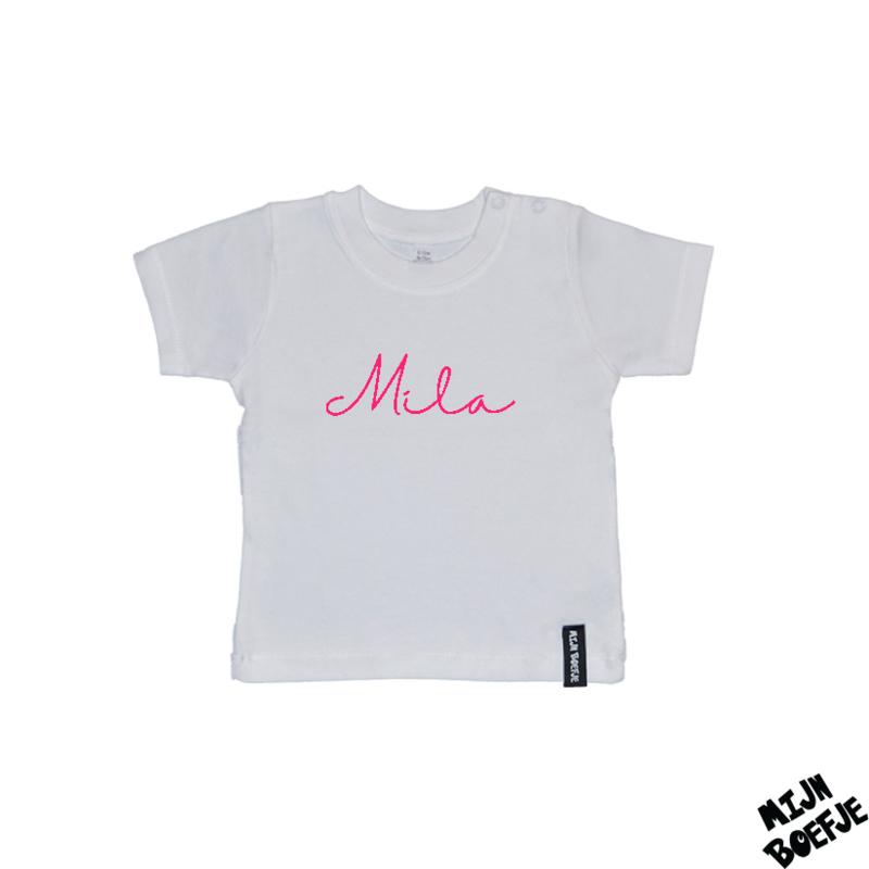 Baby t-shirt Eigen naam 3