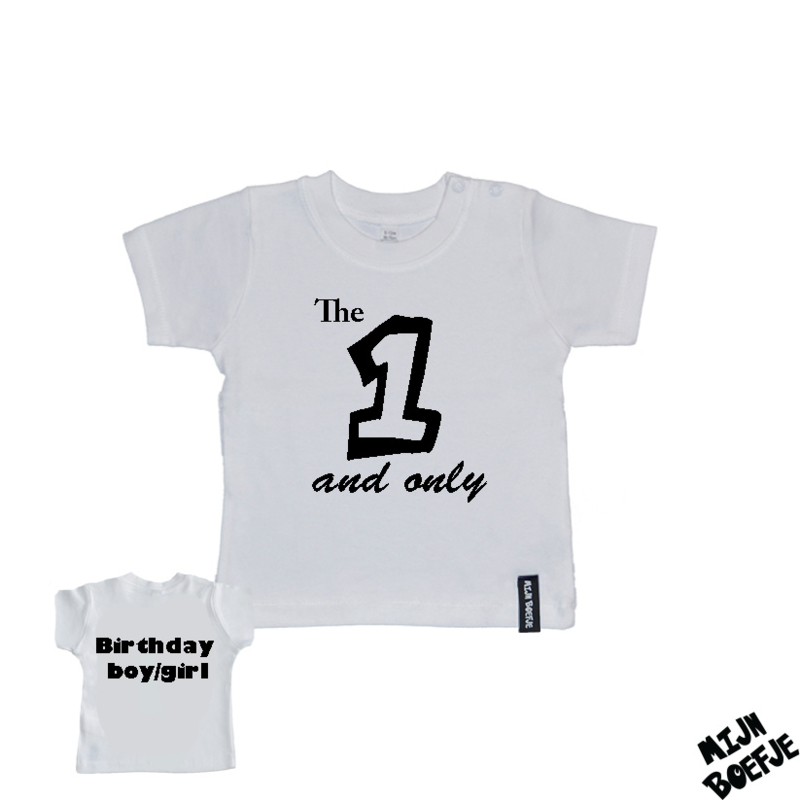 Baby t-shirt The 1 and only - Birthday boy/girl
