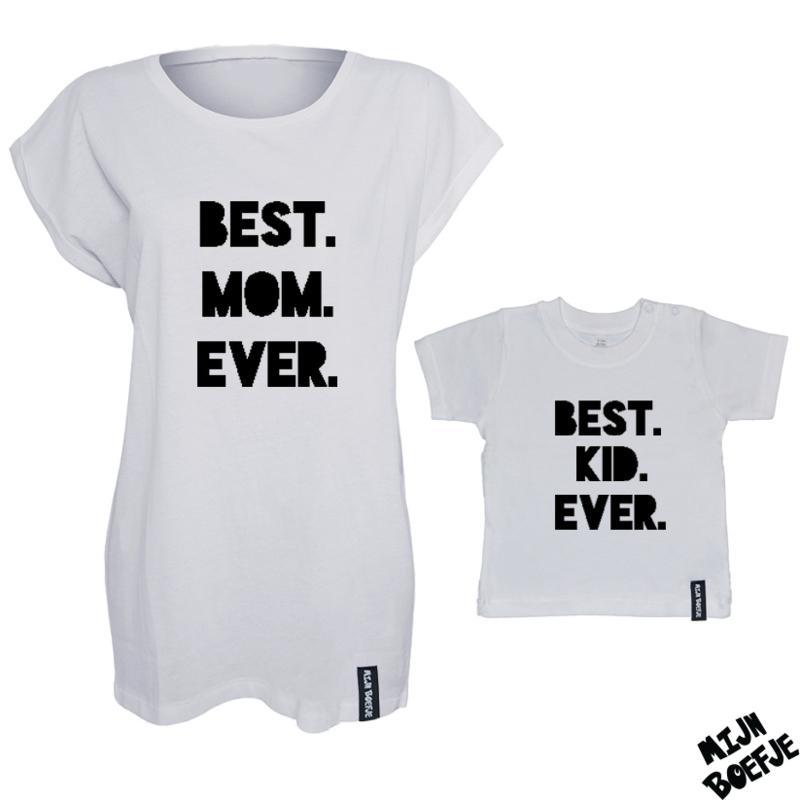 Ouder & kind/baby t-shirt BEST EVER