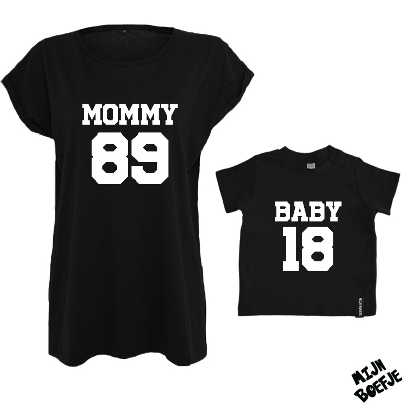 Ouder & kind/baby t-shirt MOMMY - BABY