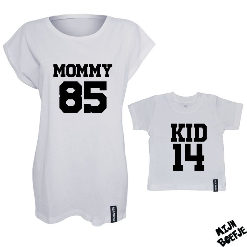Ouder & kind/baby t-shirt MOMMY - KID