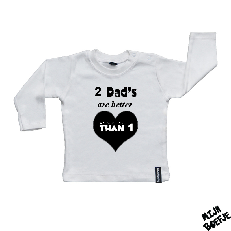 Baby t-shirt 2 Dads are better than 1