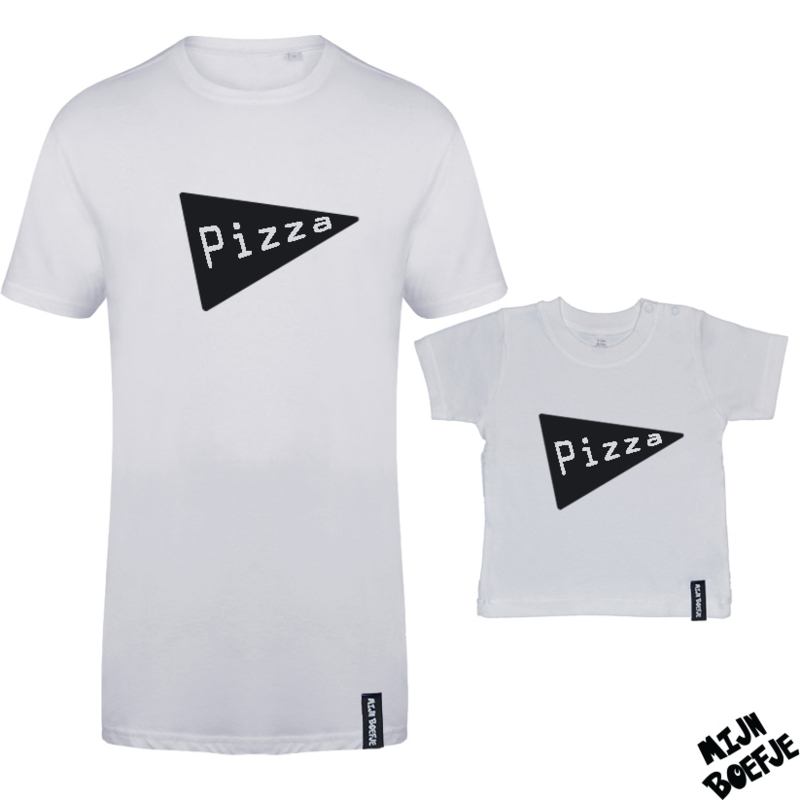 Ouder & kind/baby t-shirt Pizza