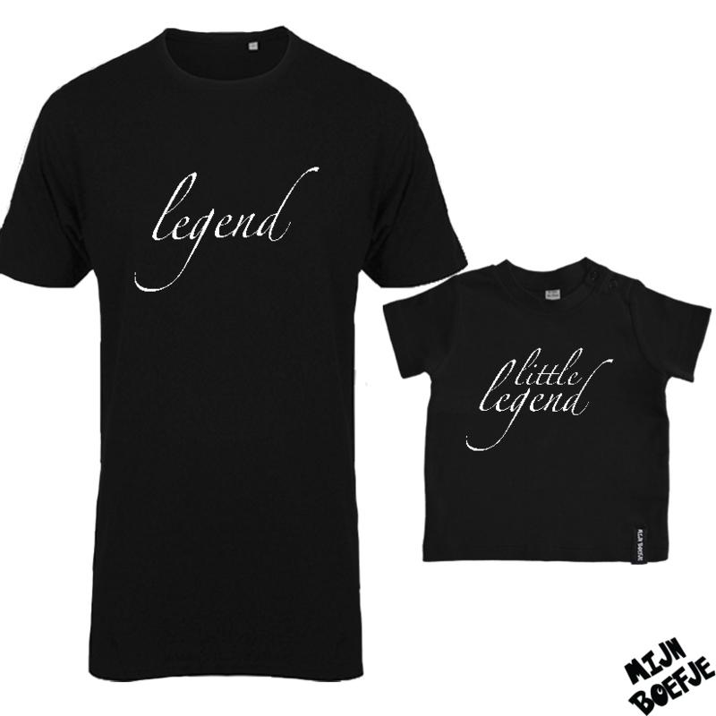Ouder & kind/baby t-shirt LEGEND