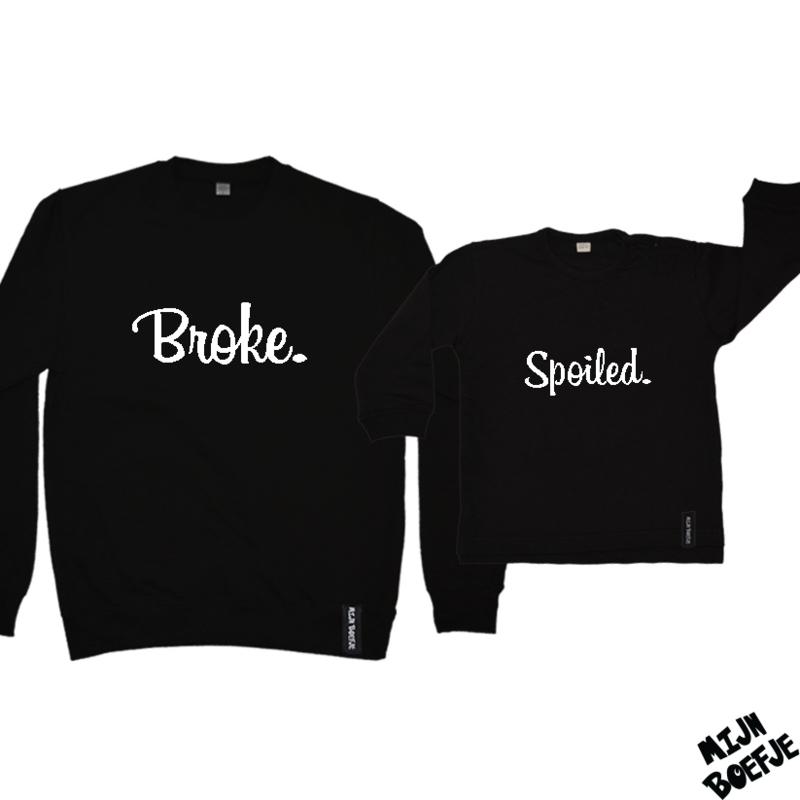 Ouder & kind/baby sweaters Broke - Spoiled