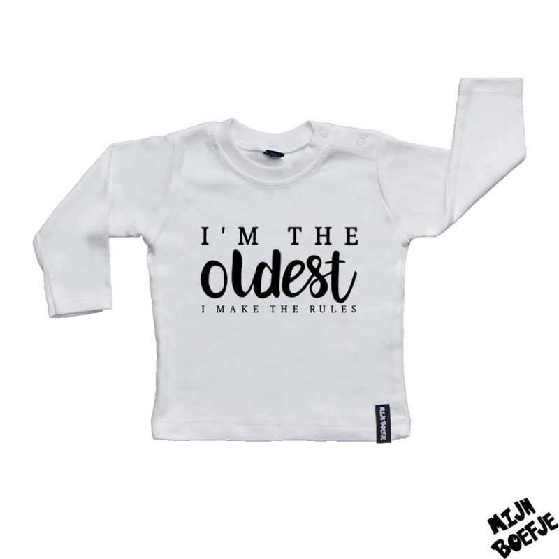 Baby t-shirt I'm the OLDEST