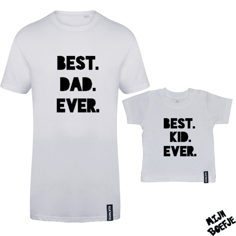 Ouder & kind/baby t-shirt BEST EVER