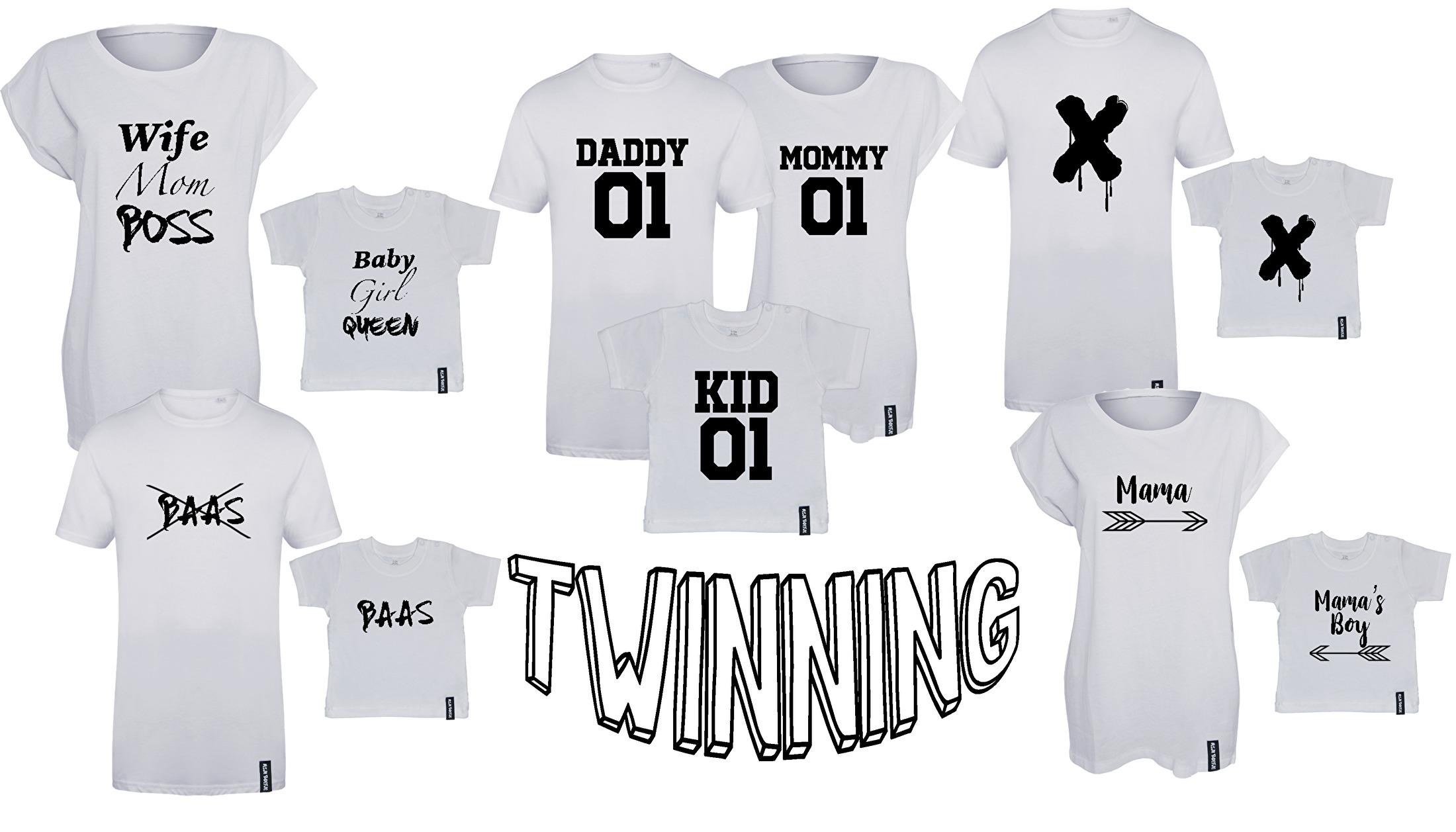 Twinning t-shirts