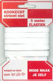 Rode kaart Elastiek 10 mm wit/ mondkapjes