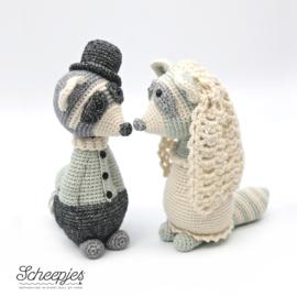 Bruidspaar Wasbeer uit Geefbeestjes Joke Postma