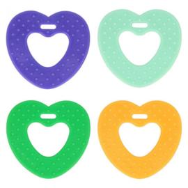 Opry Bijtring hart met noppen 65mm