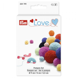 PRYM LOVE POMPON SET 3,3-5-9CM MINT