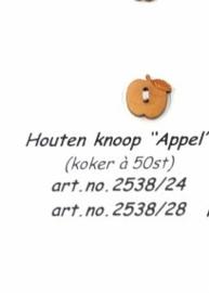 Houten knoop appel