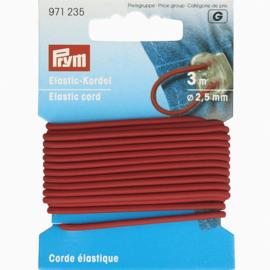 Prym elastic koord 2.5 mm rood