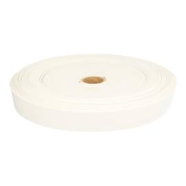 Stevig geweven elastiek 25 mm wit