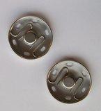 Drukknoop naaibaar 21 mm nikkel