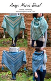 Amaya Mosaic shawl haakpakket