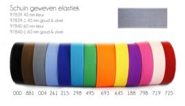 Gekleurd elastiek 40 mm schuin geweven
