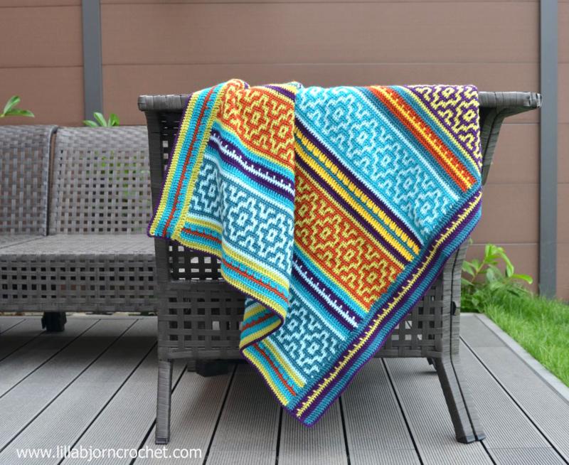 Nya Mosaic Blanket haakpakket