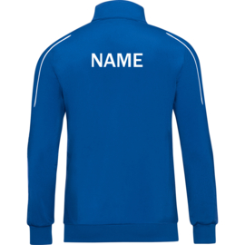 Polyester jacket Classico royal with name
