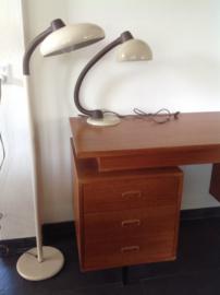 Combinatie van vloerlamp en bureaulamp. 70's/80's.