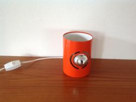 Wandlamp. Met kopspiegellamp. Oranje. 70's.