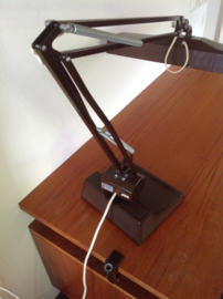 Grote bureau-/werklamp. XL. 70-/80's.