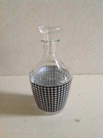 Borrelset. Glazen fles glazen. 60's.