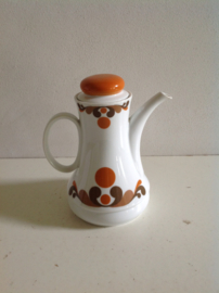 Thee-/koffiepot. 60's/70's.