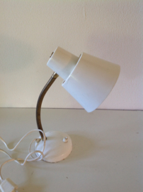 Bureaulamp. Wit. Anvia. 60's.