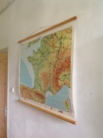 Oude schoolplaat.  Frankrijk.