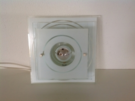 Wandlamp. Gestapelde glazen schijven. 70's. Merk: Steinhauer