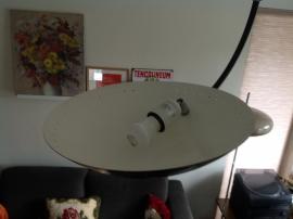 Herda booglamp.  Zwart / chroom. Design.
