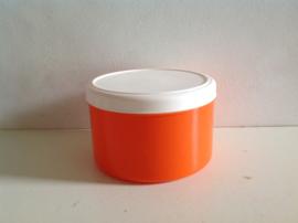 Voorraadbak. Oranje. Plastic.