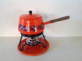 Emaille fondue set. Brabantia. 70's.
