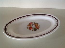 Arcopal. Ovale schaal 36 cm. Dessin Groenten.
